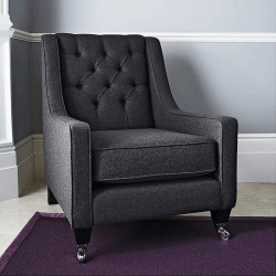 Fitzgerald Occasional Armchair - Charcoal