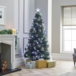Deluxe Forest Pine Fibre Optic Christmas Tree - 5ft