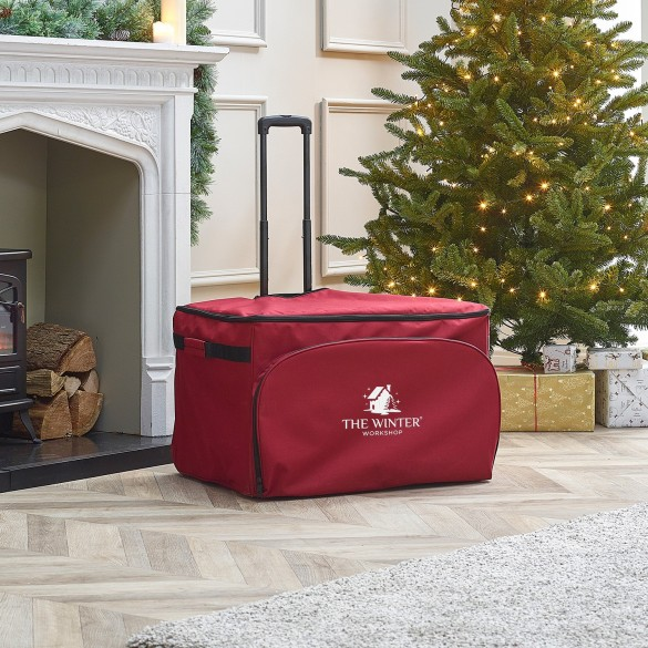 Christmas Ornament Rolling Storage Chest